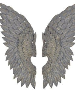Greywash Gilt Metal Feather Effect Large Angel Wings