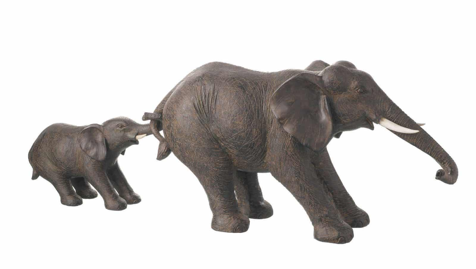 Elephant And Baby Ornament 2 Pieces Free Uk Delivery