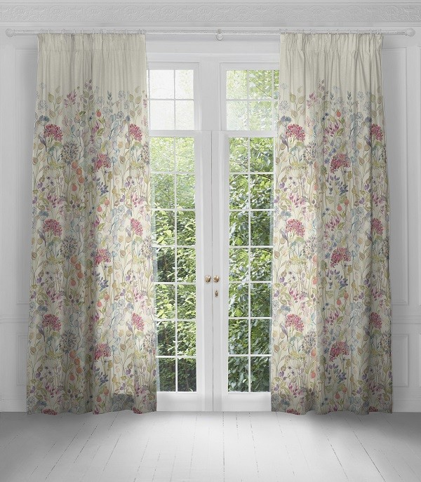 Voyage Maison Artscene Pencil Pleat Curtains Hedgerow Linen