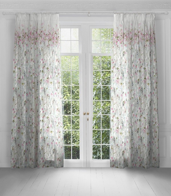 Voyage Maison Artscene Pencil Pleat Curtains Hopea Peony