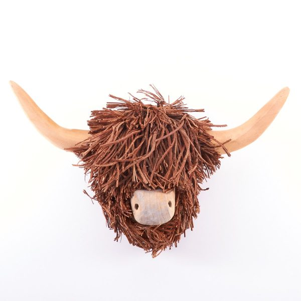 Voyage Maison Highland Cow Wooden Sculpture Wall Hanging