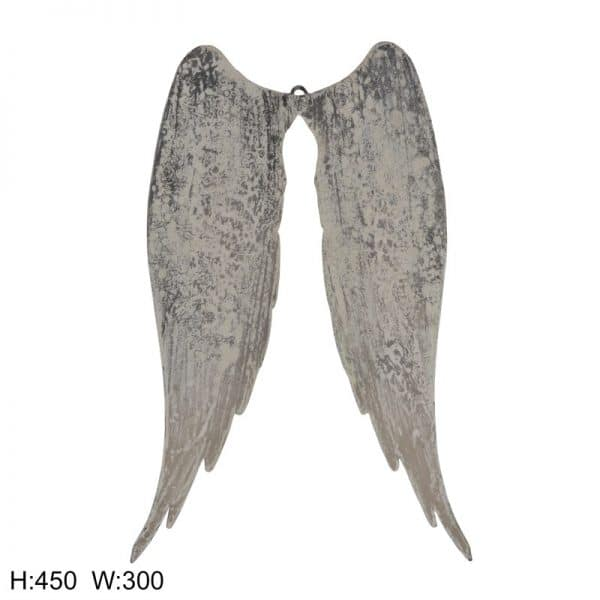 Distressed Metal Angel Wings FUZ325