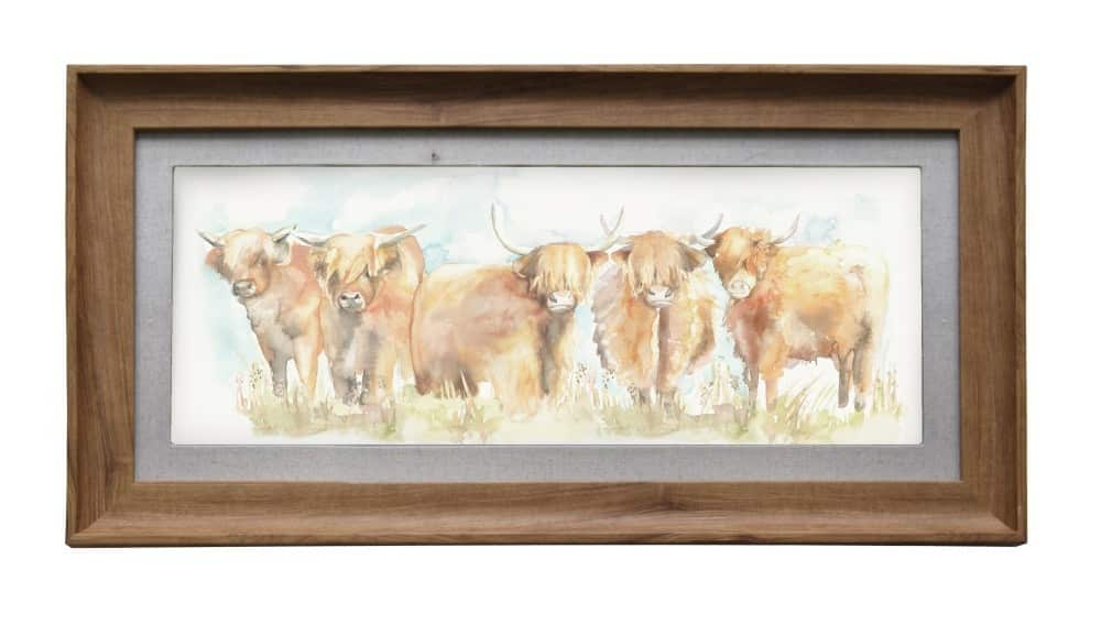 Voyage Maison Highland Cattle Framed Artwork E140040