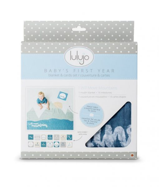 Lulujo Milestones I Will Move Mountains Blanket & Card Set