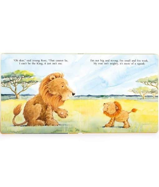 Jellycat The Very Brave Lion Book BK4BL-1