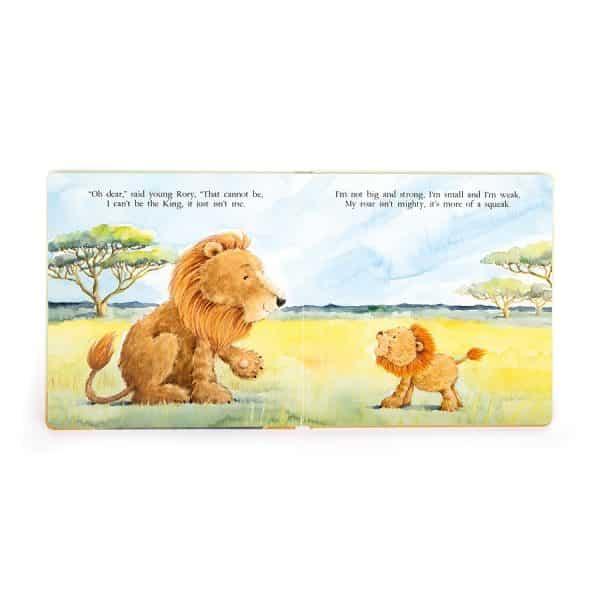Jellycat The Very Brave Lion Book BK4BL-1