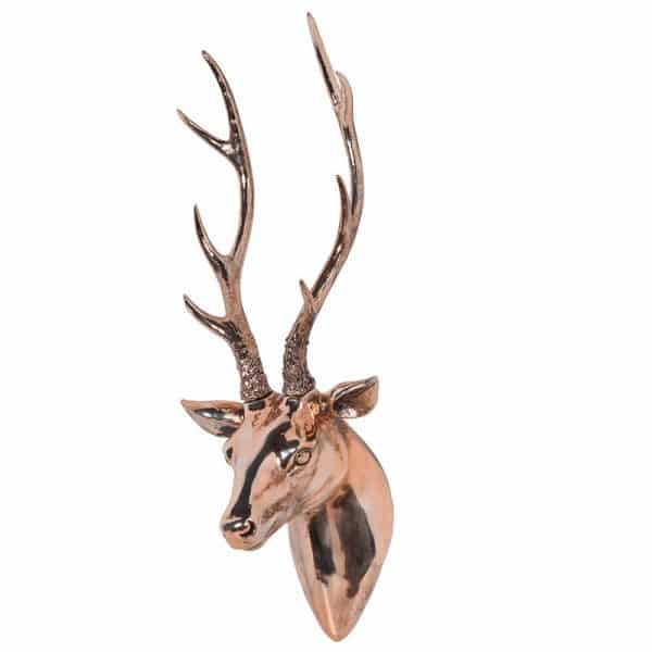 Coach House Copper Deer Head Wall Art NAN141