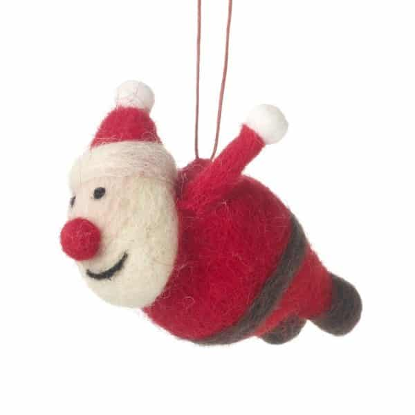 Hanging santa decoration maison white for Decoration maison white