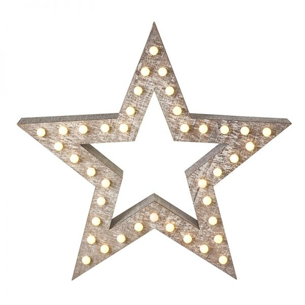 Heaven Sends Wooden Star with LED light DXX013