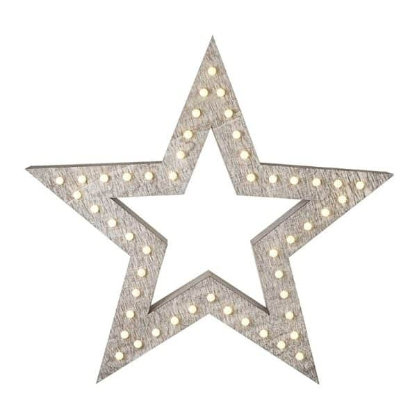 Heaven Sends Wooden Star with LED light DXX014