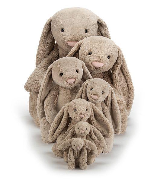 Jellycat Bashful Beige Bunny Family 2