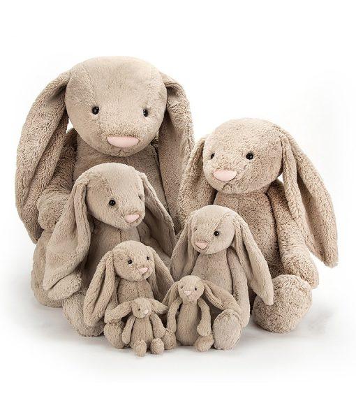 Jellycat Bashful Beige Bunny Family