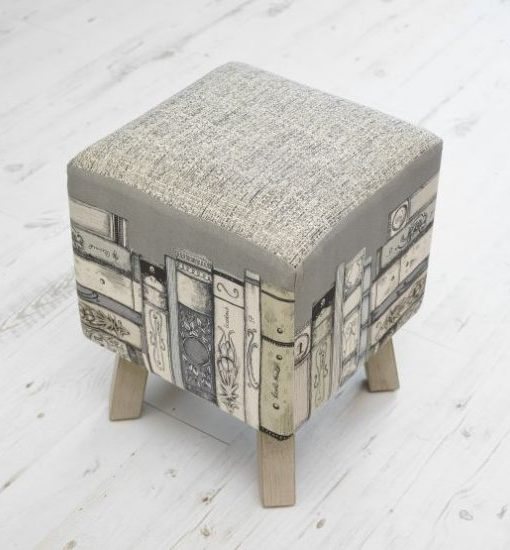 Voyage Maison Library Books Toby Footstool FS17009 (2)
