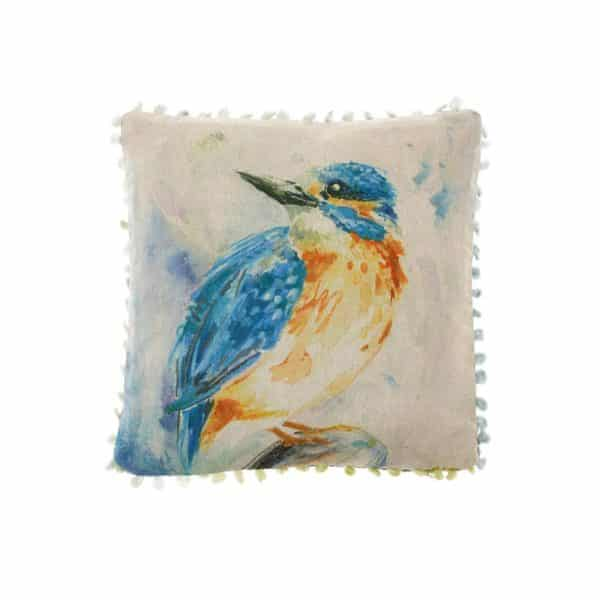 Voyage Maison Art House Cushion Dancing Kingfisher AH16009