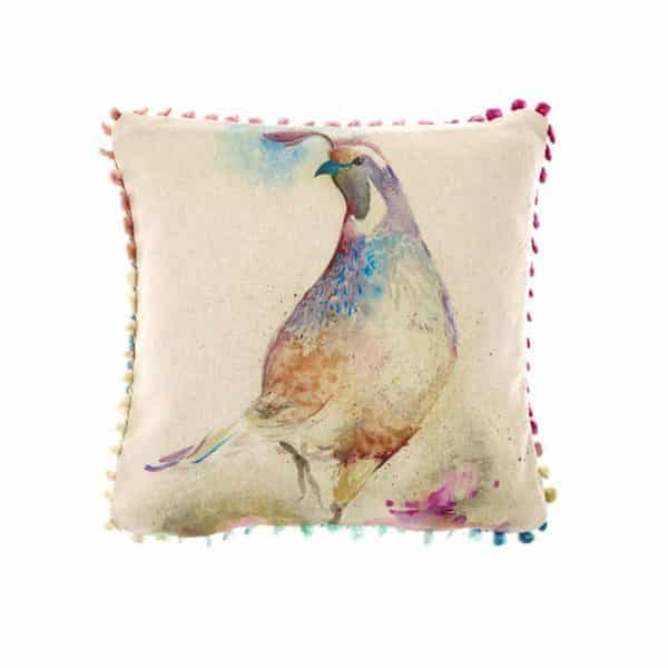 Voyage Maison Art House Cushion Dancing Quail AH16012