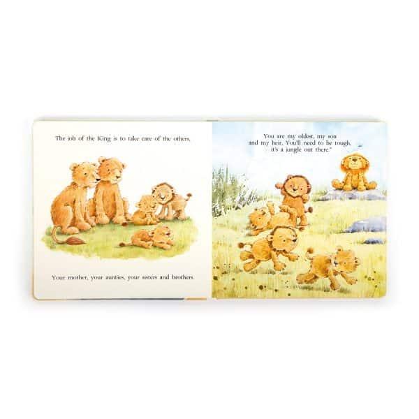 Jellycat the Very Brave Lion Book BK4BL_2