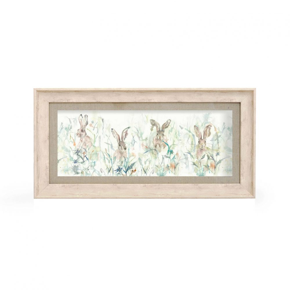 Voyage Maison Bunnies Framed Art Birch E180017