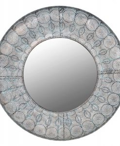 Coach House Round Metal Wall Mirror MFA051