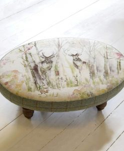 Voyage Maison Ceris Oval Enchanted Forest Footstool FS13014