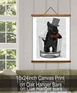 Fab Funky Scottish Terrier in Whisky Tumbler Genuine Original Antique Book Print 5
