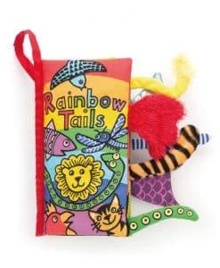 Jellycat Rainbow Tails Book BK444RBT