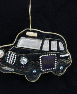 Gisela Graham Black Velvet Jewel London Taxi Dec 11287