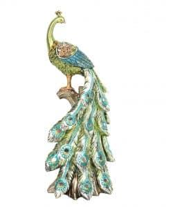Gisela Graham Coloured Resin Jewel Peacock Orn Sml 31606