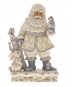Friends For All Seasons (White Woodland Santa With Owl) 6001407