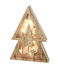 Heaven Sends Light Up Wood Christmas Scene TLA354