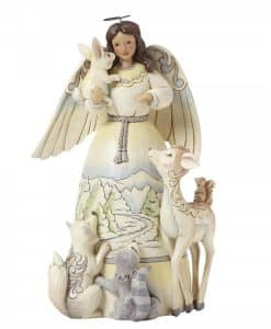 Peace To All (White Woodland Angel with Animals) 4041084