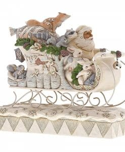 Sleigh Ride Season (White Woodland Santa in Sleigh) 6001410 2