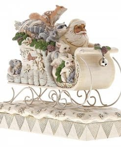 Sleigh Ride Season (White Woodland Santa in Sleigh) 6001410