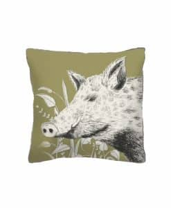 voyage maison wild boar arthouse cushion AH17003