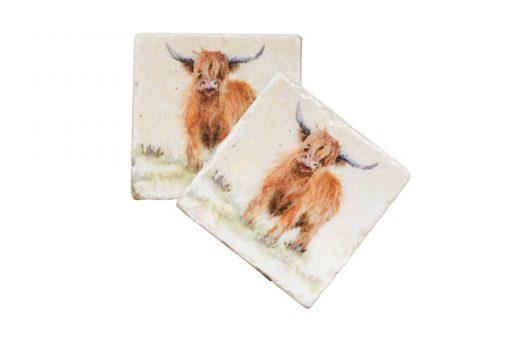 Highland Cow Coaster HCWC001 1