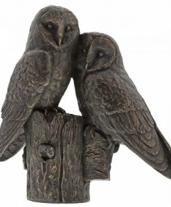 Pair of Owls Bronze Ornament A28860