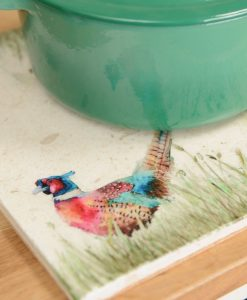 Pheasant in the Grass Platter Large PHEL003