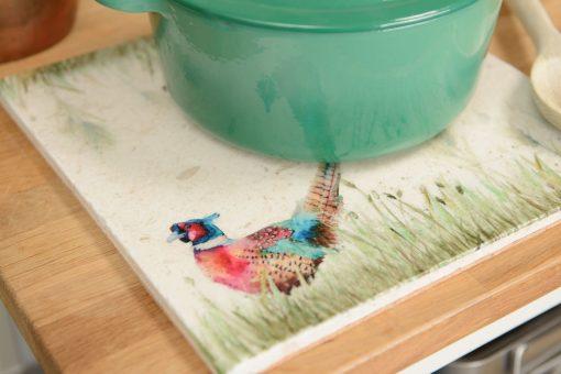 Pheasant in the Grass Platter Large PHEL003