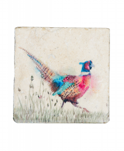 Pheasant in the Grass Platter Medium PHEM002 1