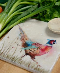 Pheasant in the Grass Platter Medium PHEM002