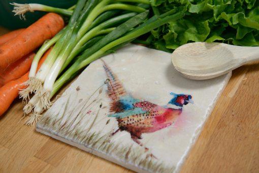 Pheasant in the Grass Platter Medium PHEM002