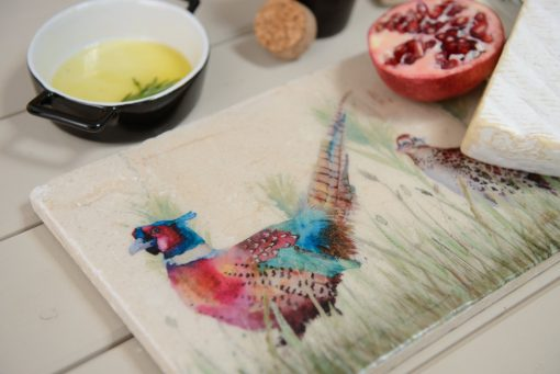 Pheasant in the Grass Platter Sharing PHES005 2
