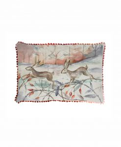 Voyage Maison Christmas Hare Art House Cushion AH18004