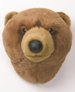 Wild & Soft Grizzly Bear Head Oliver