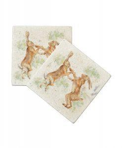 Kate of Kensington Boxing Hares Coasters