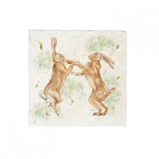 Kate of Kensington Boxing Hares Medium Platter