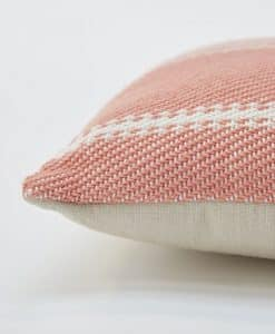 Weaver Green Oxford Stripe Cushion - Coral 45 x 45cm 2