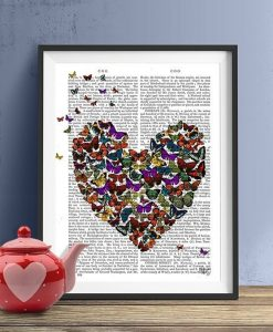 Fab Funky Butterfly Heart Genuine Original Book Print BP260521928