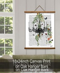 Fab Funky Chandelier with Vines and Butterflies Genuine Original Antique Book Print BP260520307 4