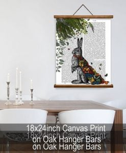 Fab Funky Hare with Butterfly Cloak Genuine Original Book Print BP260520339 4