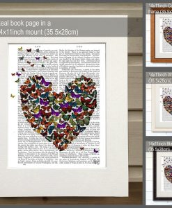 Fabfunky Butterfly Heart Genuine Original Book Print BP260521928 1
